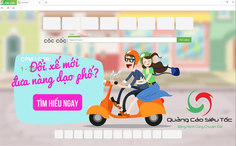 Dạng quảng cáo Browser Skin của Cốc Cốc
