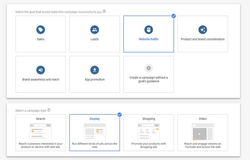Trực tiếp tạo chiến dịch GDN để kiểm tra chi phí cho mỗi lượt click