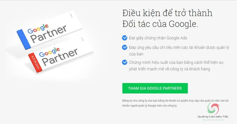 Điều kiện trở thành Google Partner là gì