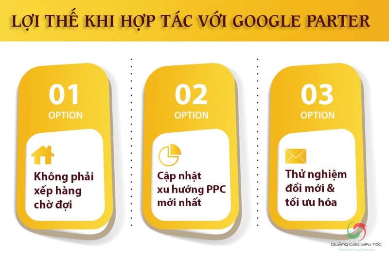 Lợi thế khi hợp tác với đối tác của Google tại Việt Nam