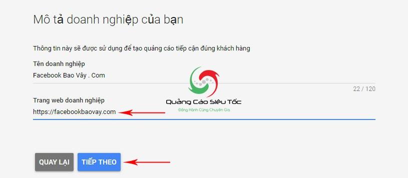 Cách tạo tài khoản google adwords