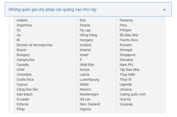 Những quốc gia cho phép quảng cáo đồ uống có cồn
