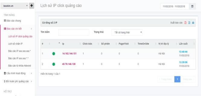 Các phần mềm chặn click chuột ảo có chức năng chính là ghi nhận lại IP