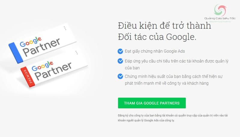 Điều kiện trở thành đối tác của Google
