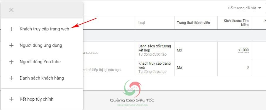 hướng dẫn chạy remarketing google