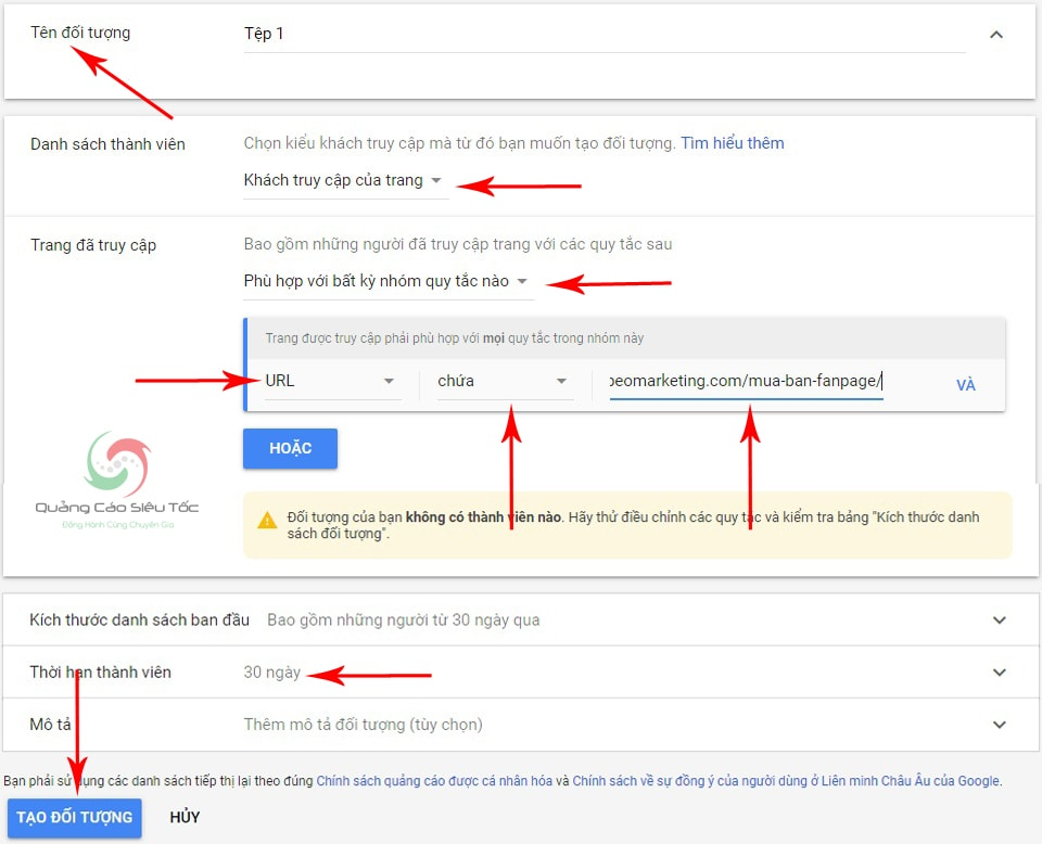 hướng dẫn remarketing google