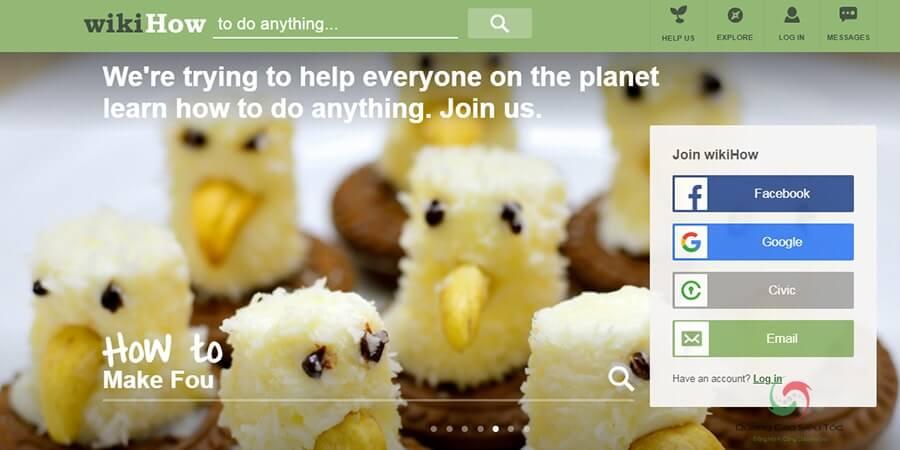 WikiHow là website kiếm tiền từ quảng cáo Google