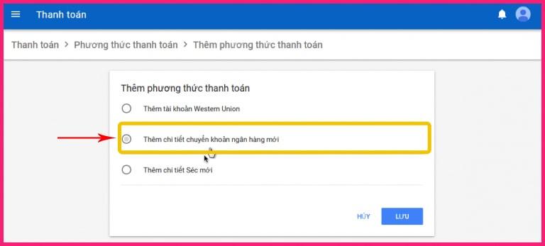nhận tiền từ google adsense