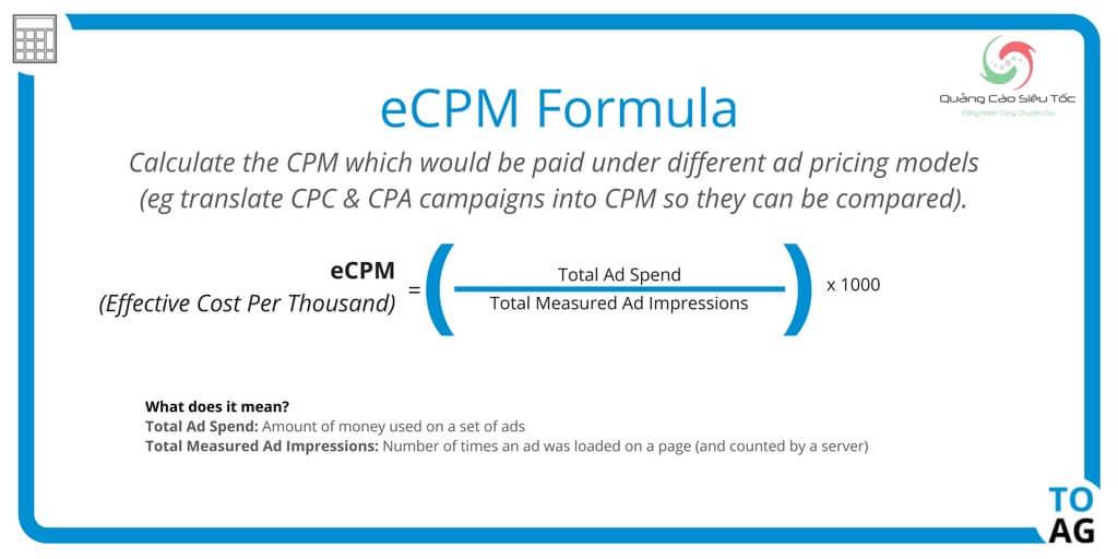 eCPM là gì? Công thức tính eCPM