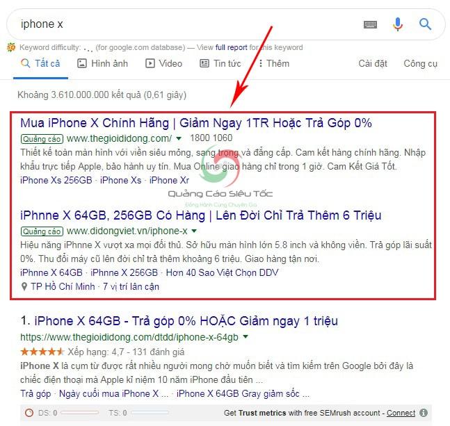 Quảng cáo google từ khóa