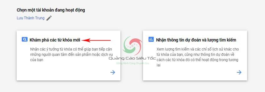 sử dụng google keyword planner