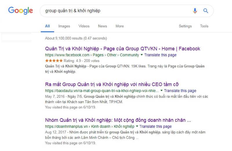Group quản trị & khởi nghiệp là một trong những Group kinh doanh lớn nhất Việt Nam