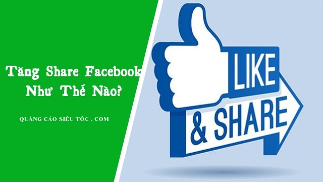 Tăng share facebook
