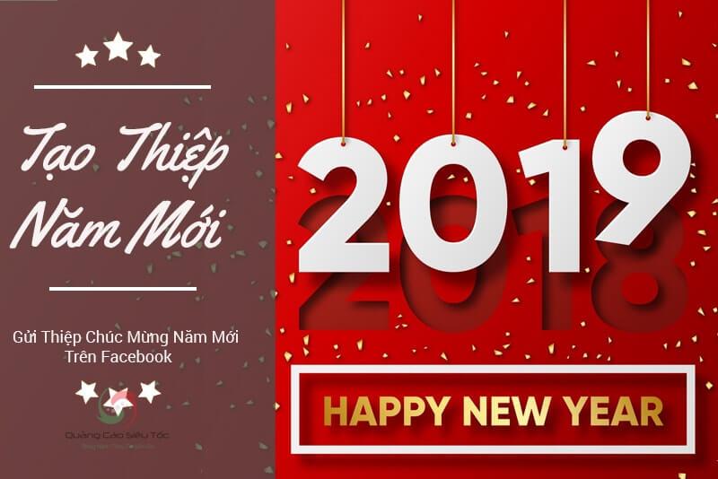 Cách tạo thiệp chúc mừng năm mới Facebook