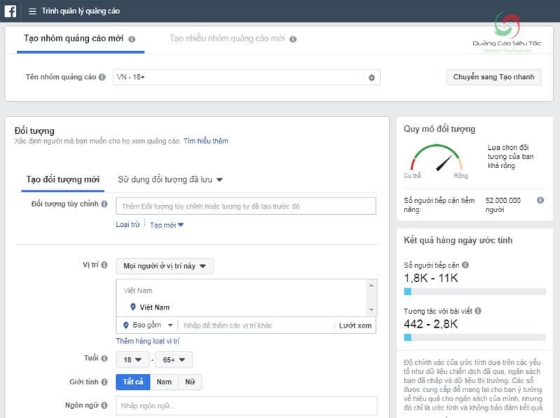 Thị trường mục tiêu giúp target đối tượng quảng cáo Facebook