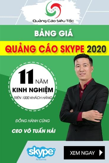 Giá Quảng Cáo Skype