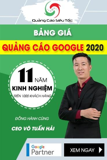 Bảng Giá Quảng cáo Google