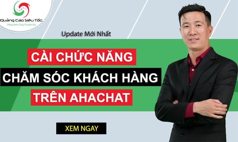 Cài chức năng chăm sóc khách hàng Facebook trên Ahachat