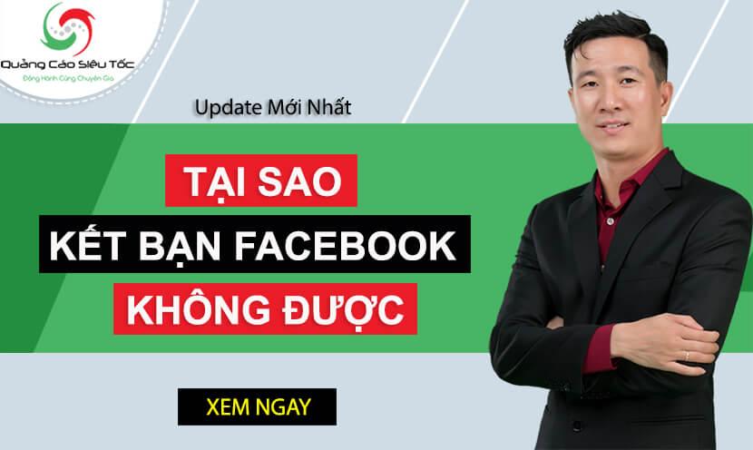3 nguyên nhân bạn không thể kết bạn trên Facebook được