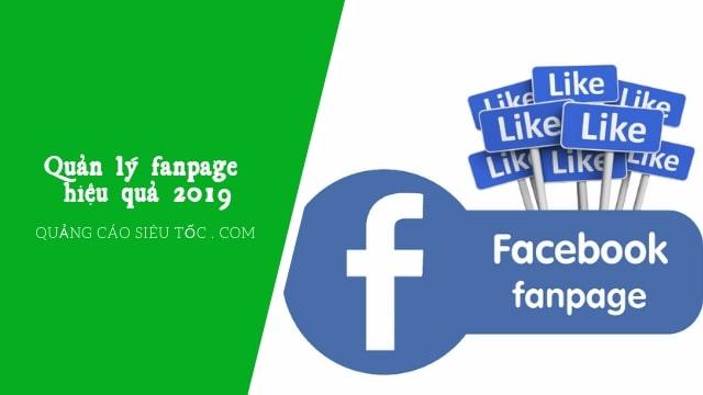 Cách quản lý fanpage miễn phí và hiệu quả nhất 2019