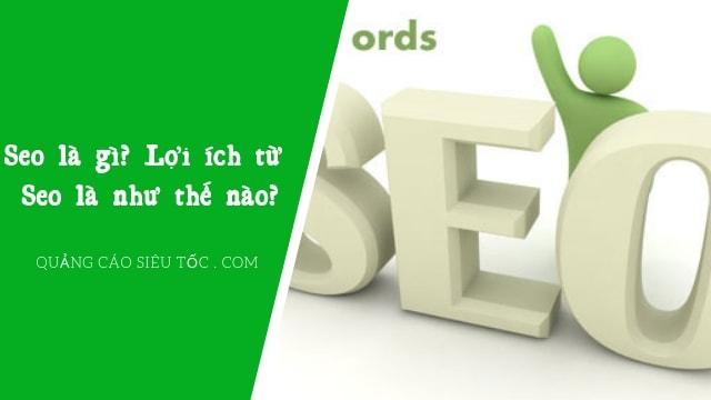 Seo Website Là Gì ? Seo Có Tầm Quan Trọng Như Thế Nào?