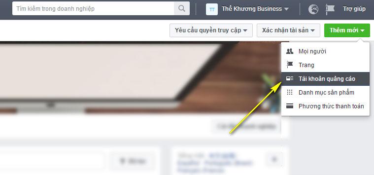 Tạo Tài Khoản Quảng Cáo Với Tài Khoản Facebook Business