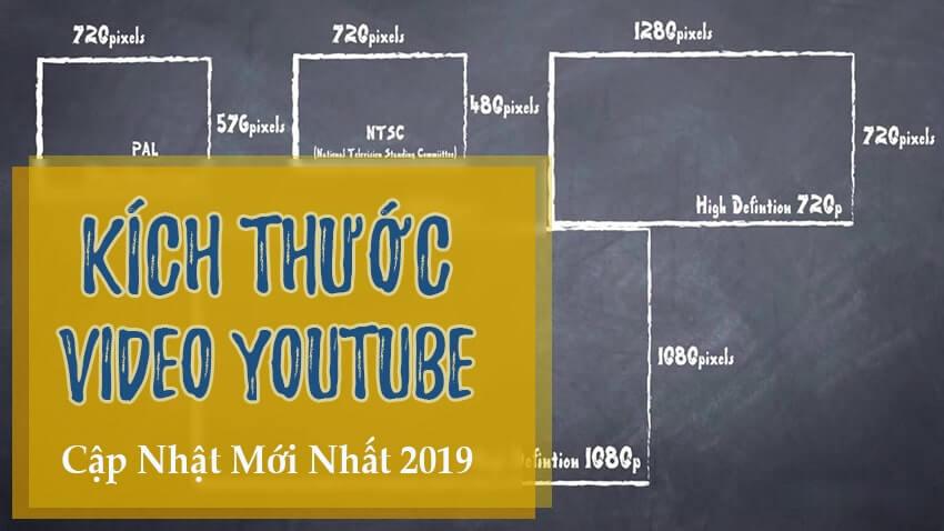 Liệt kê tất cả kích thước video Youtube