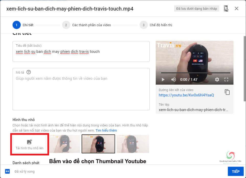 Cách chọn ảnh thumbnail cho đoạn video Youtube