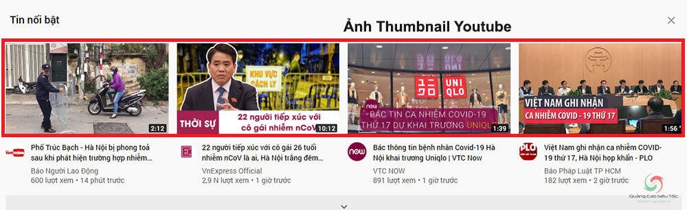 Minh họa thumbnail Youtube là gì