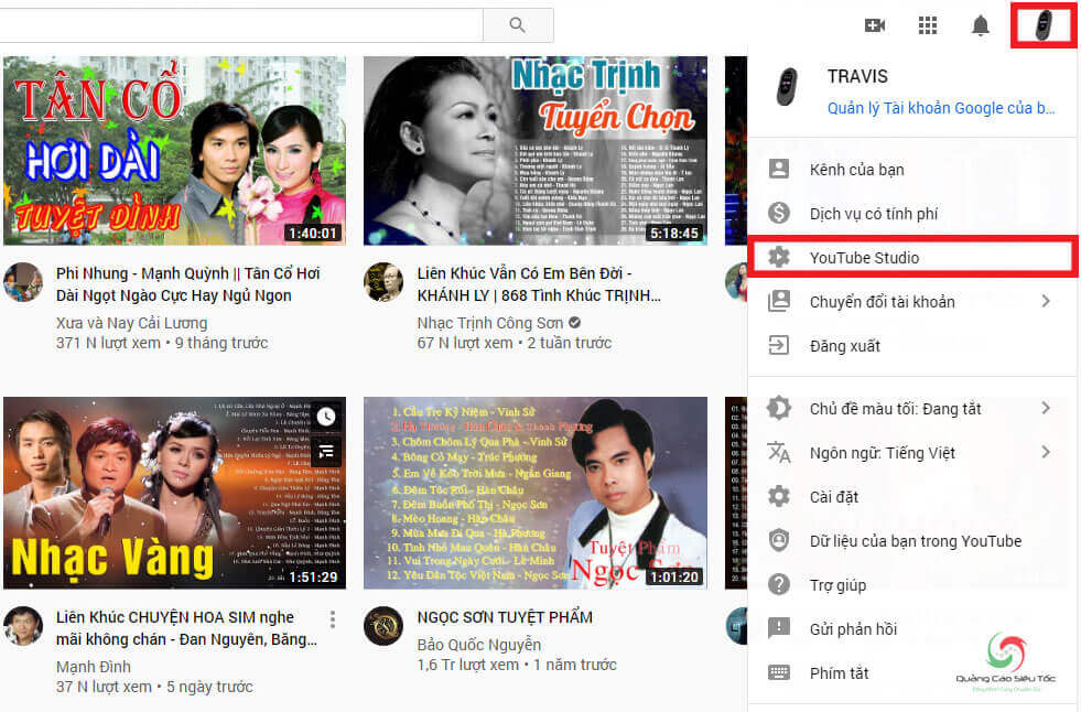 Cách tạo PLaylist Youtube từ Youtube Studio