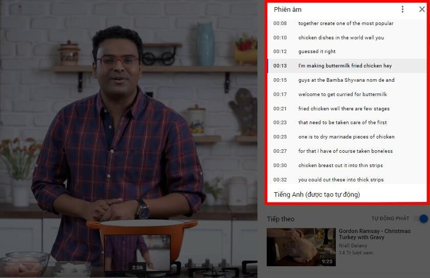 Copy bản sub của video và dán vào Google Dịch