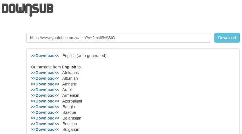 Bấm nút Download ở phần English hoặc chọn ngôn ngữ cần dịch khi tải sub trên Youtube