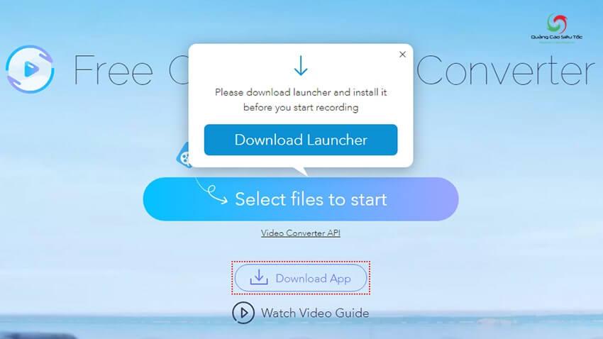 Nhấp vào nút để tải lên video cần chỉnh kích thước