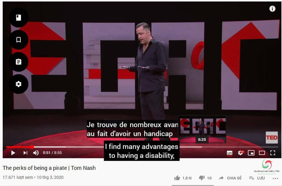 Bật 2 phụ đề trên Youtube thành công