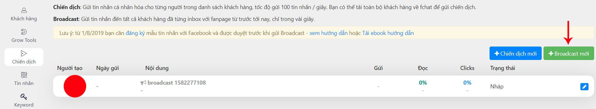 broadcast fchat