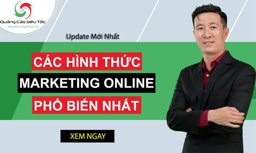 Banner các hình thức Marketing Online