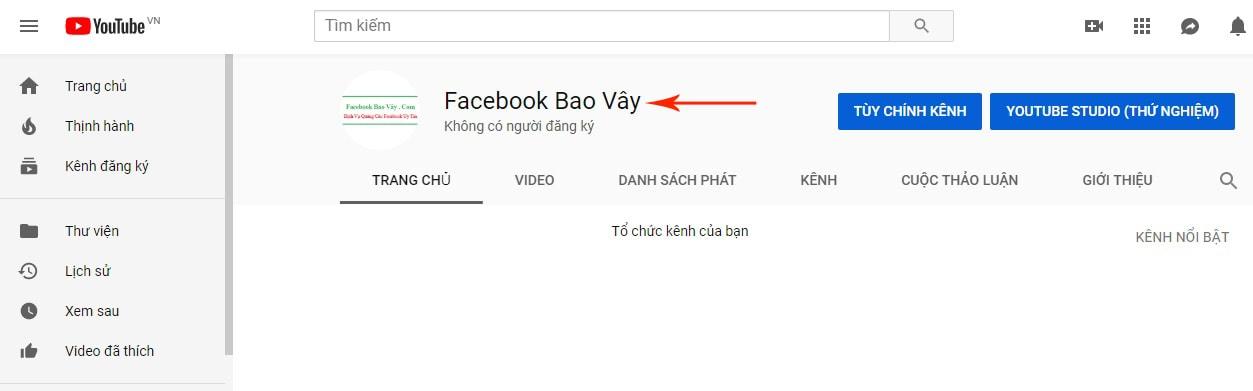 cách đặt tên kênh youtube