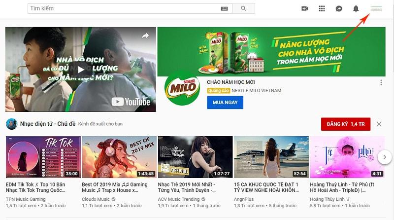 cách đổi tên kênh youtube