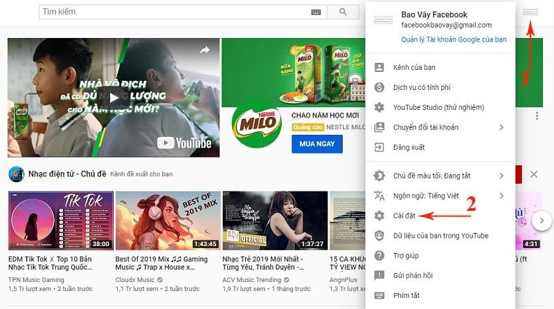 cách đổi tên youtube