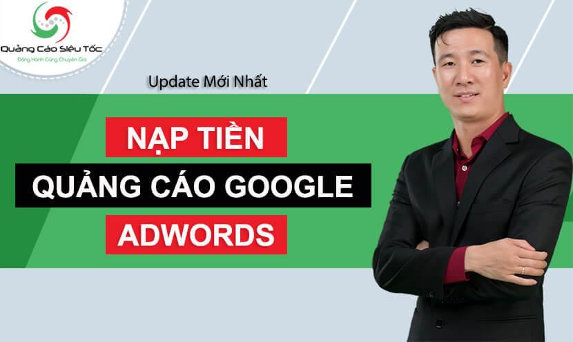 cách nạp tiền vào tài khoản google adwords