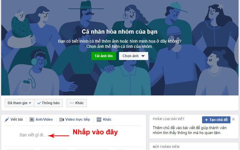 cách post bài lên group facebook