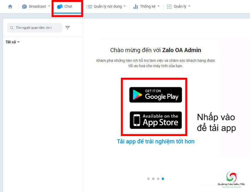 Cách xem tin nhắn chat trên Zalo page