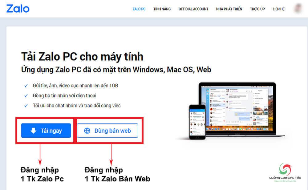 Cách đăng nhập 2 tài khoản Zalo trên máy tính