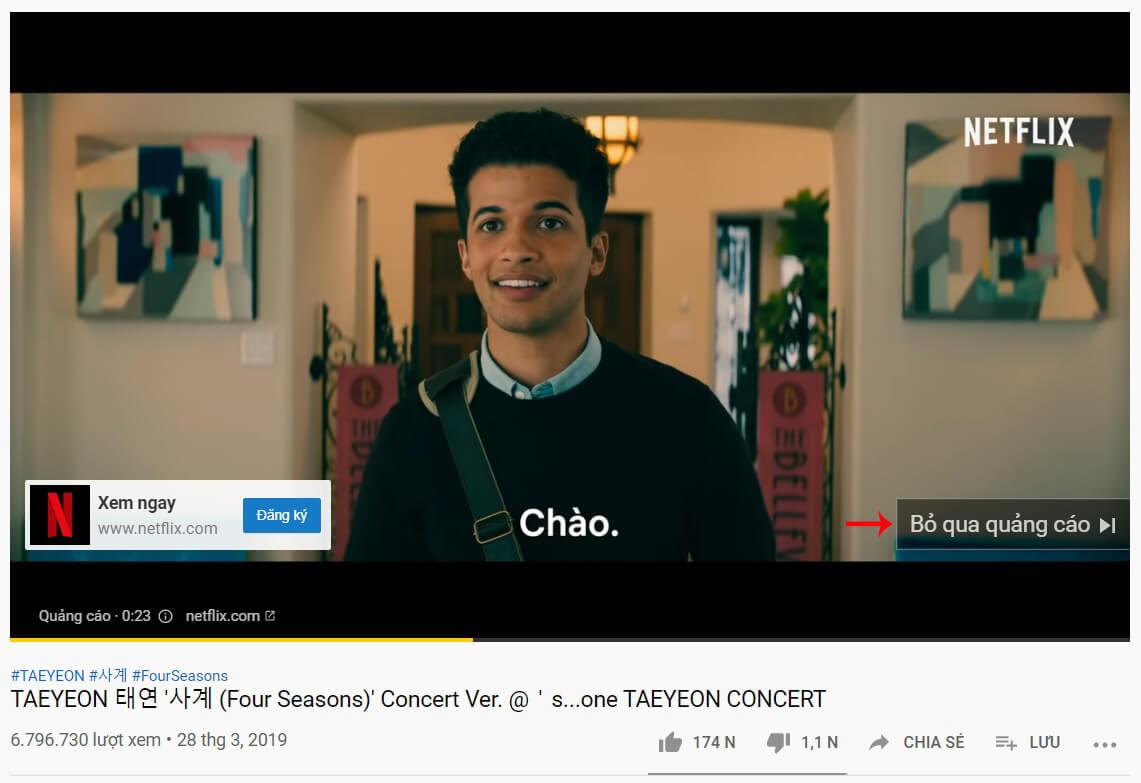 cách tắt quảng cáo trên youtube