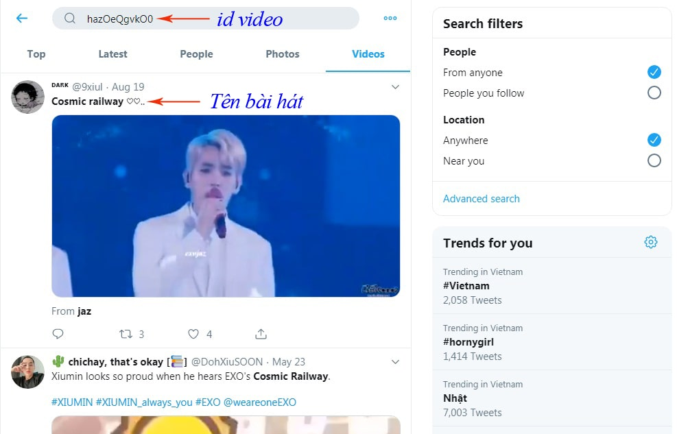 cách tìm tên bài hát trên Youtube