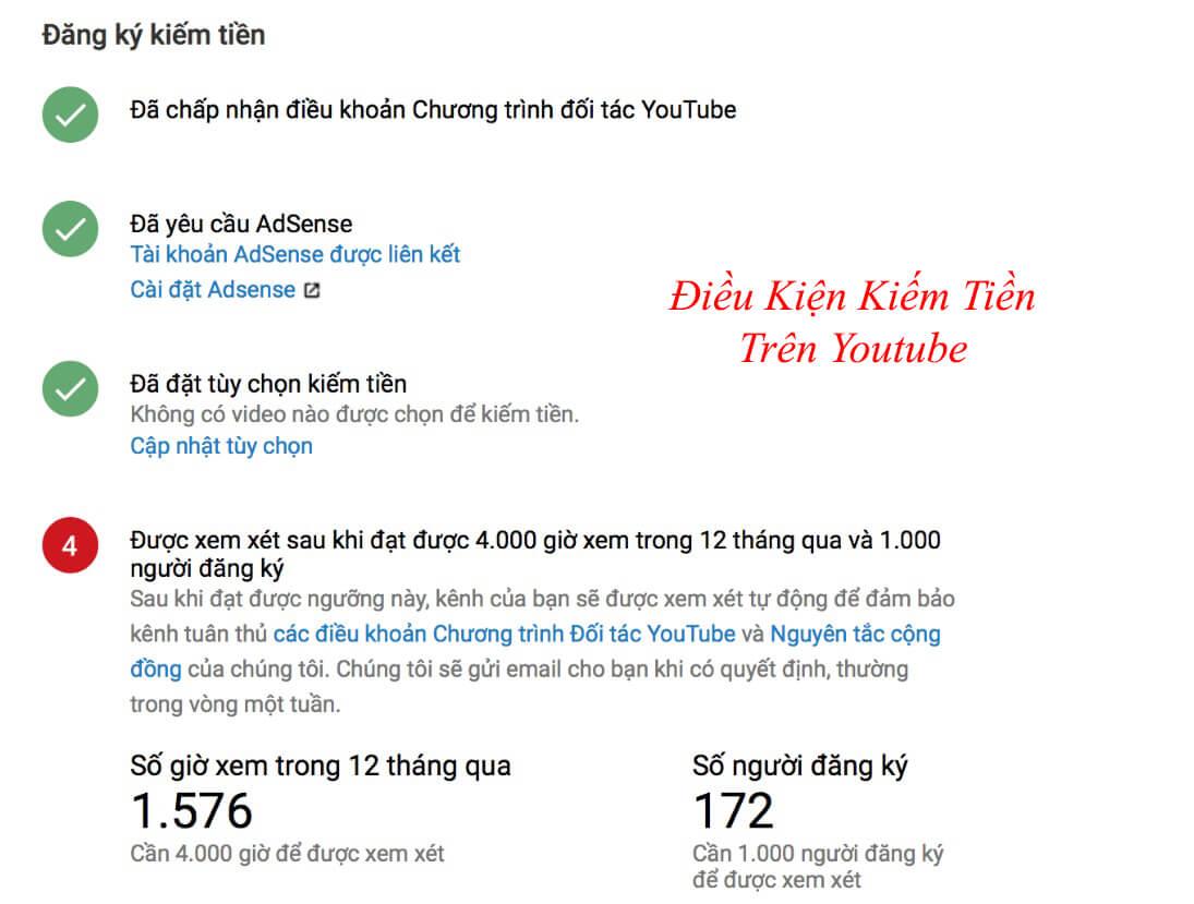 cách tính lượt view youtube ra tiền