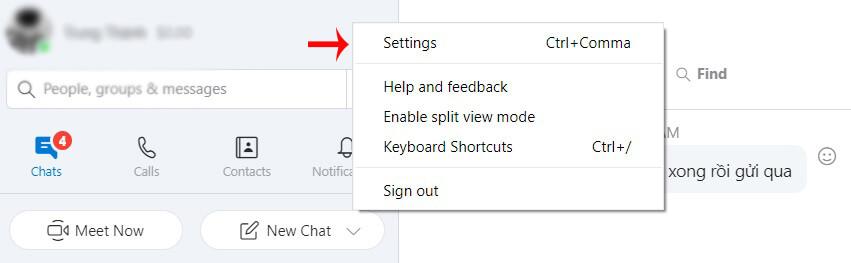 cách xóa skype