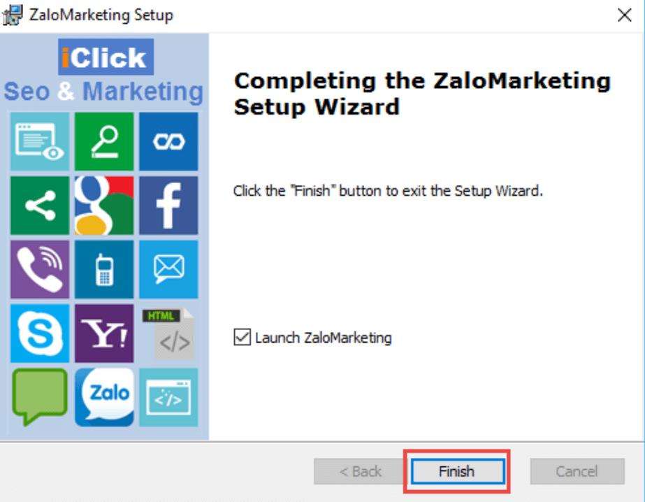 Cài phần mềm quảng cáo zalo marketing