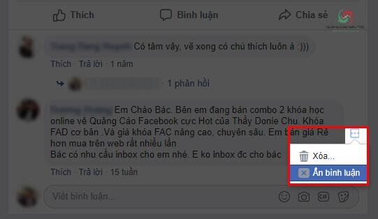Cách ẩn bình luận status trên Facebook cá nhân
