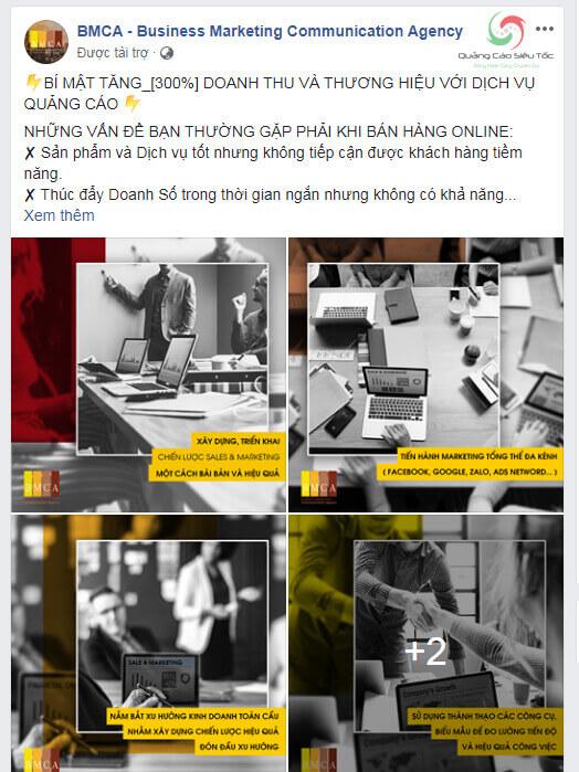Quảng cáo bài viết trên Facebook dạng tiếp cận
